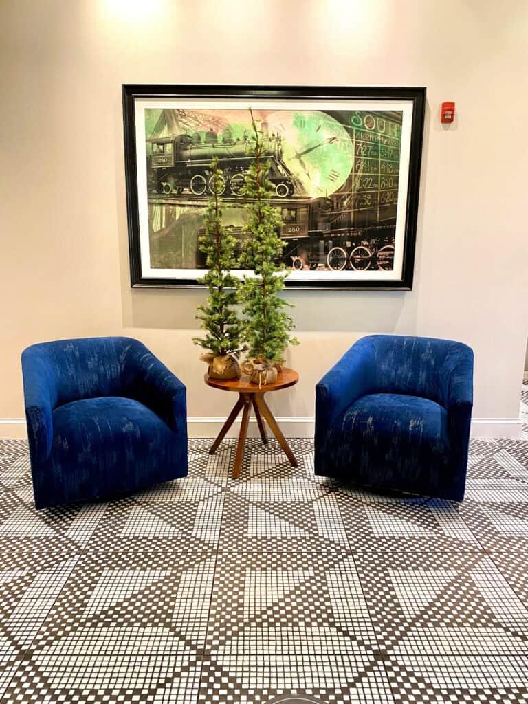 Plush chairs
