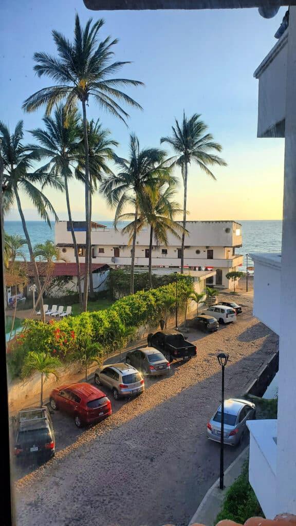 view from room looking at Bay of Banderas
