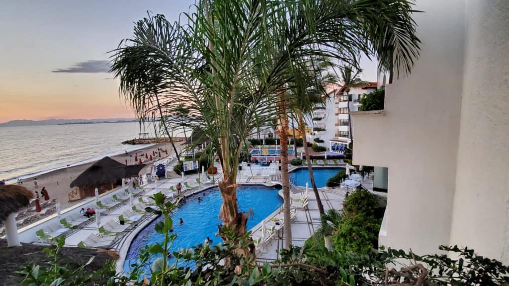 view of resort pools