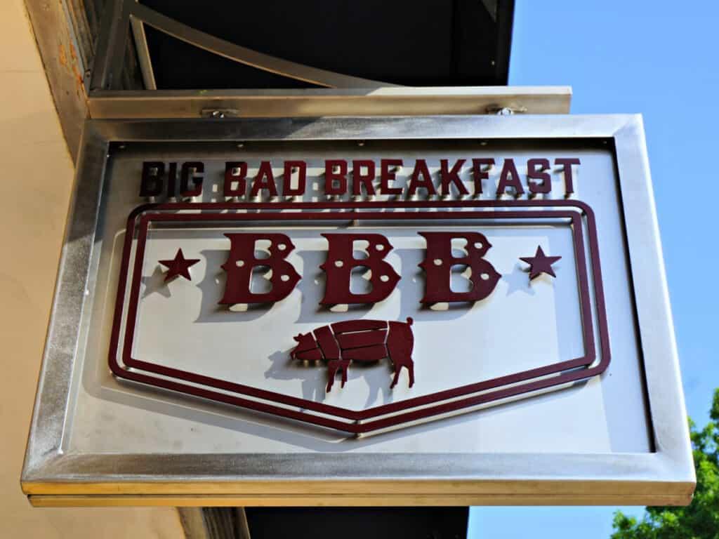 Big Bad Breakfast sign