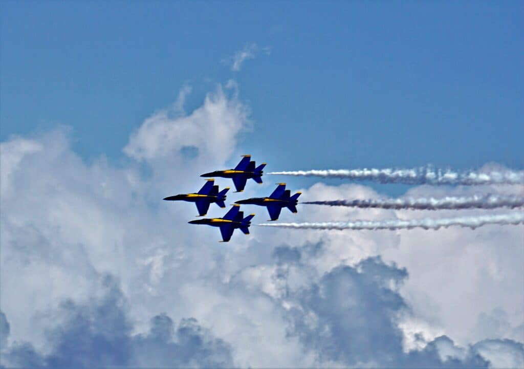 Blue Angels flying