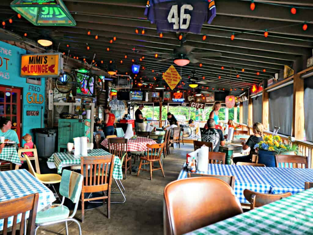 Champy's outdoor dining area