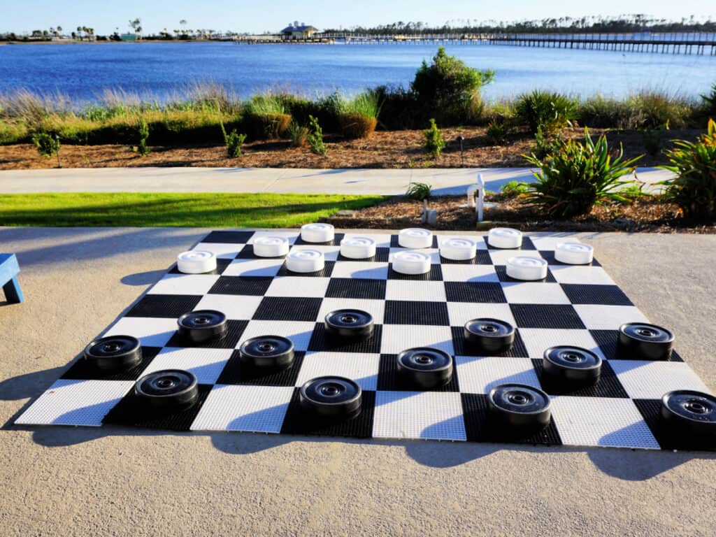 large outdoor checker board