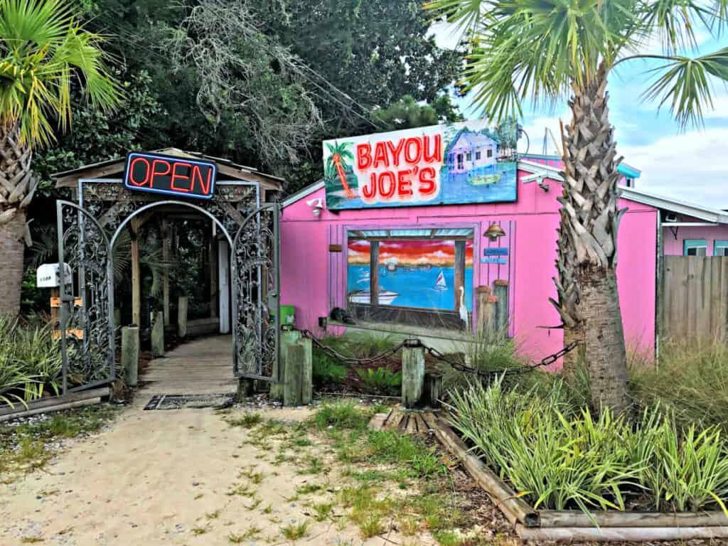 Bayou Joe's pink building