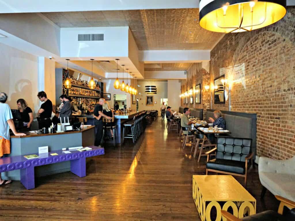 the dining area inside Odette