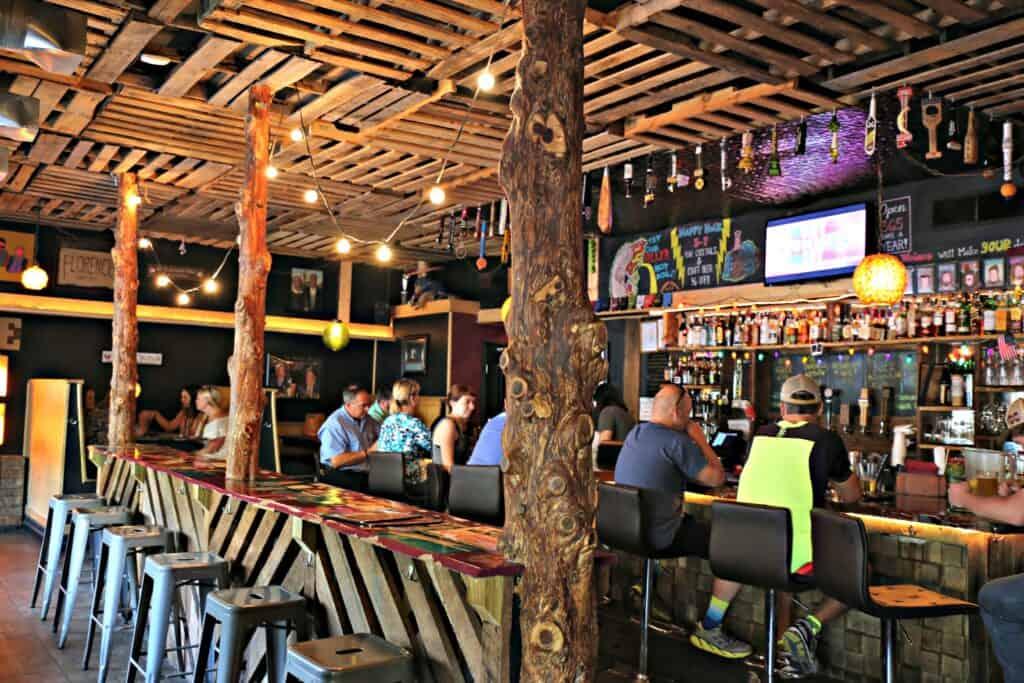 the bar at Wildwood restaurant