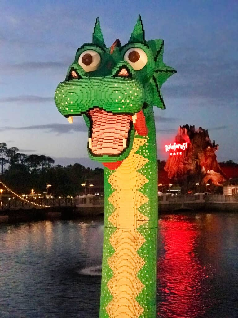 dragon made of Legos