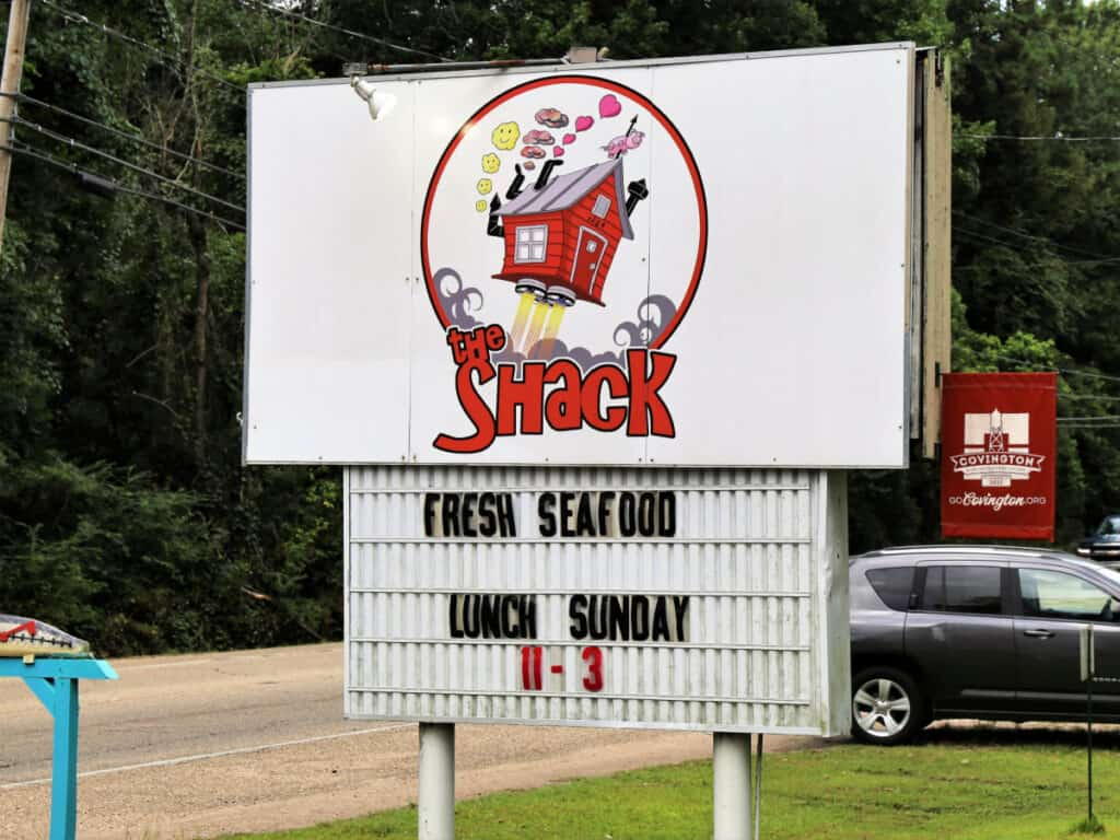 The Shack restaurant sign