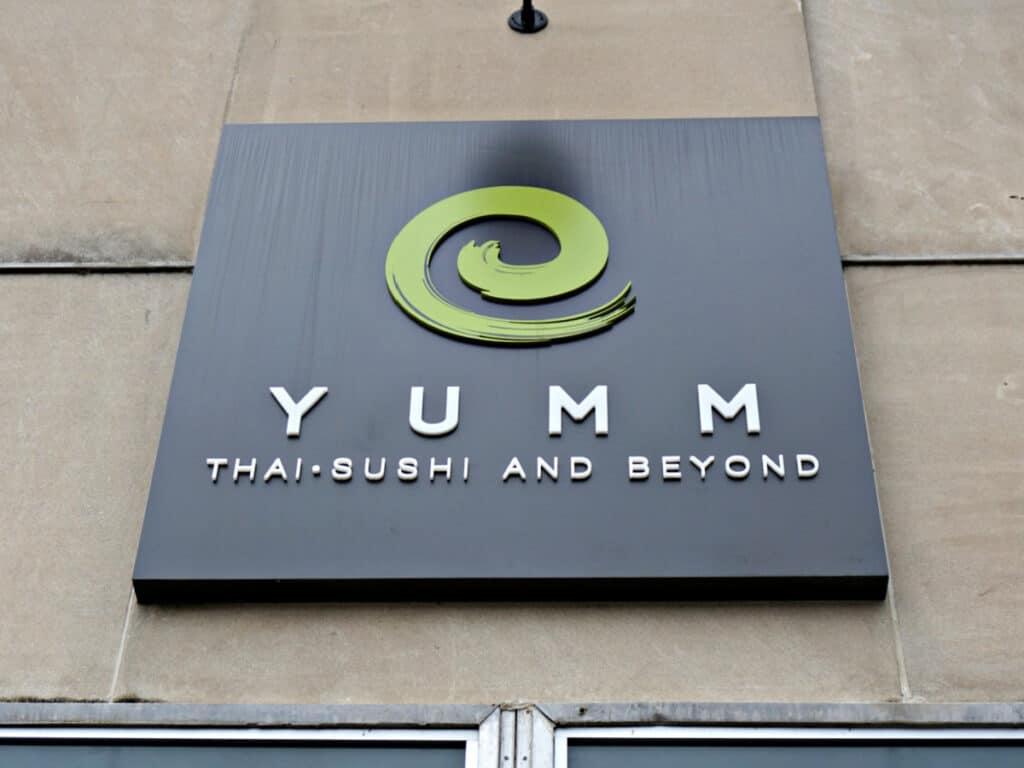 Yumm restaurant sign