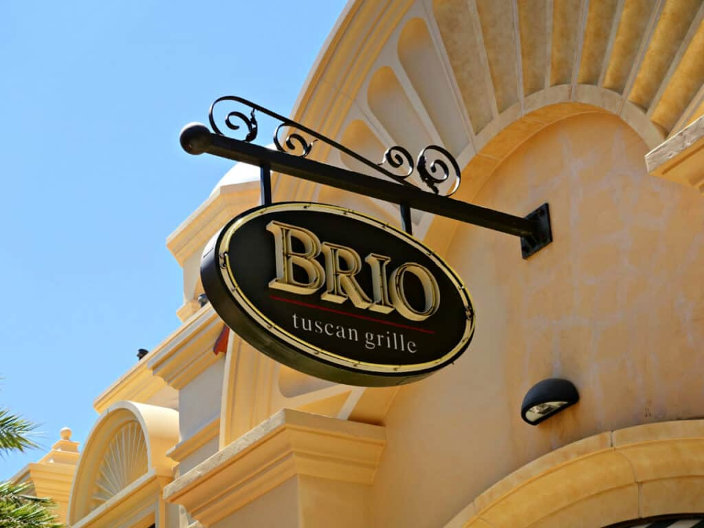 Brio Tuscan Grille sign