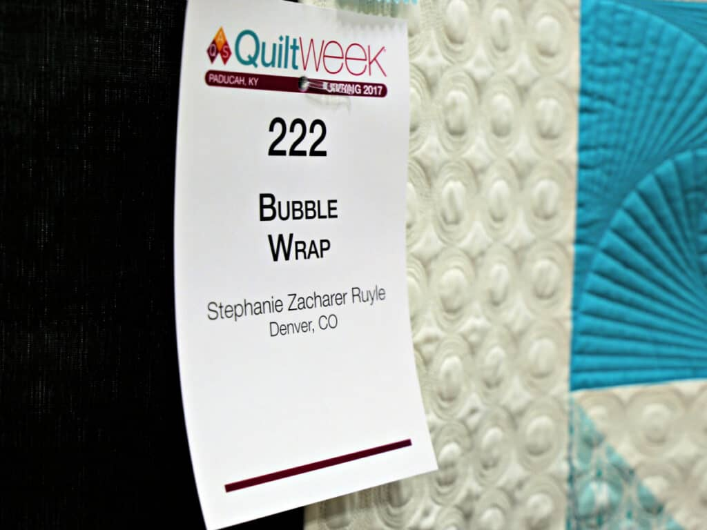 Bubble Wrap quilt