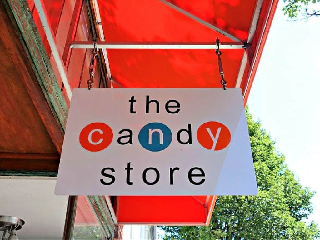 The Candy Store sign