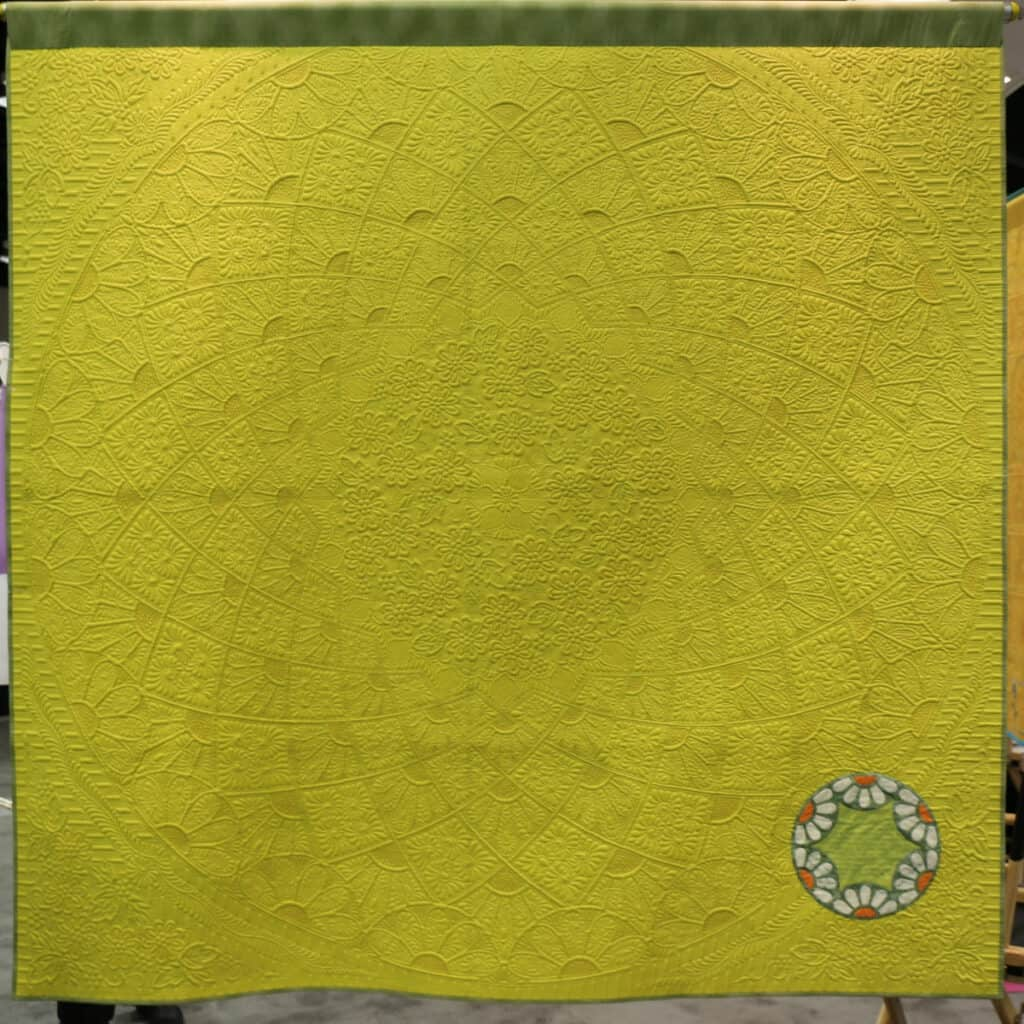 back of Circle of Flowers quilt