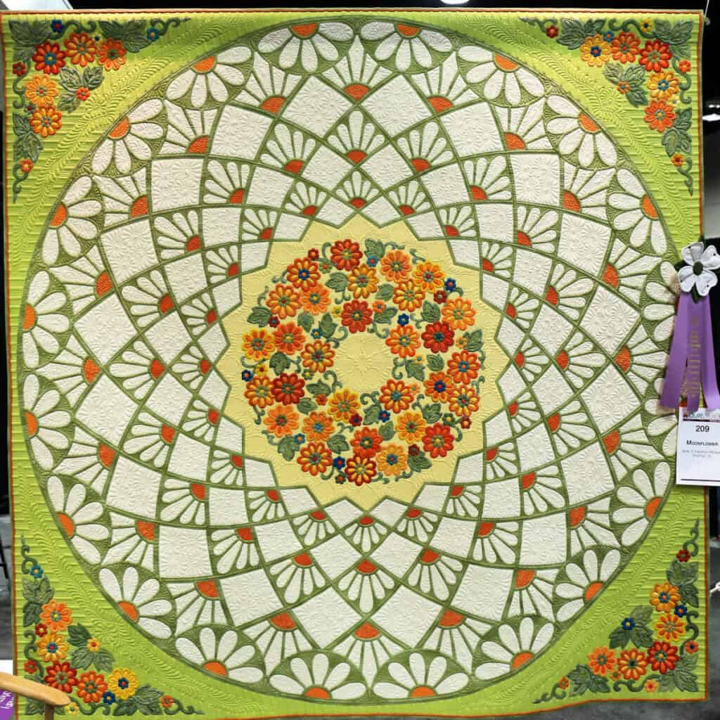 Circle of Flowers quilt