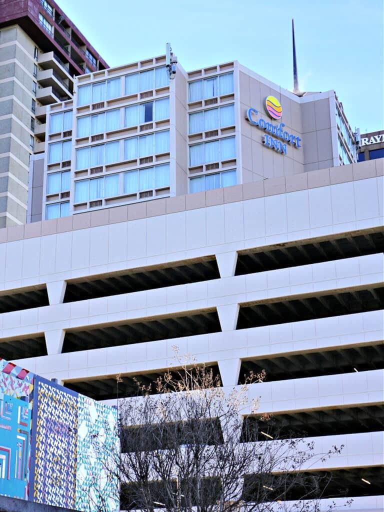 Comfort Inn and parking deck