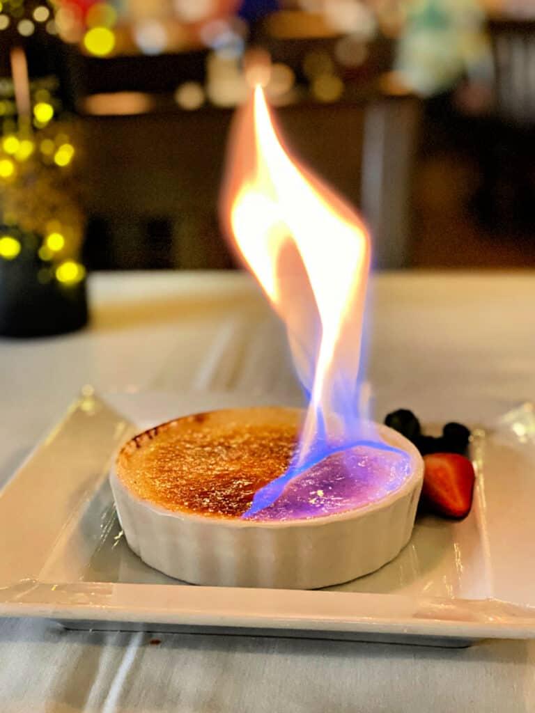 creme brulee on fire
