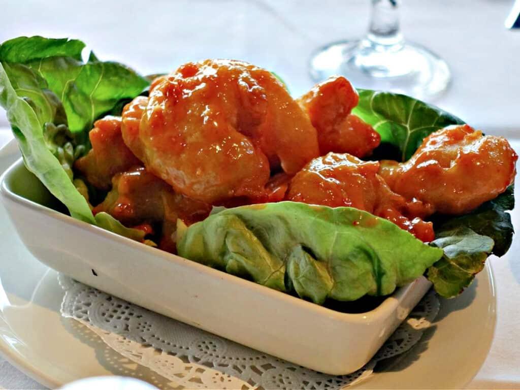 bowl of firecracker shrimp