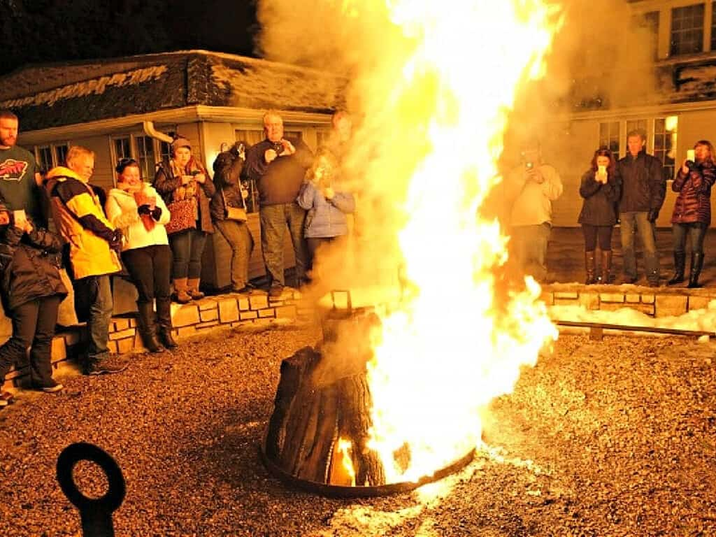 fire for fish boil