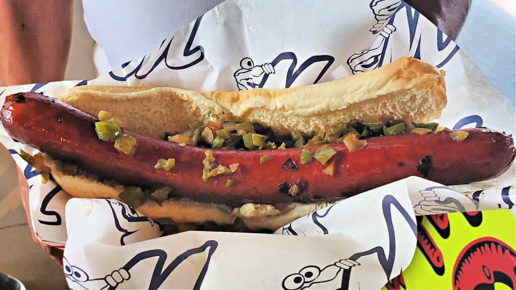 foot long hotdog