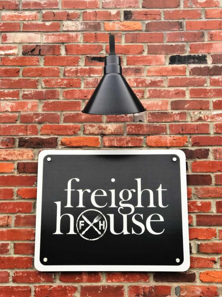 Freight House restaurant sign