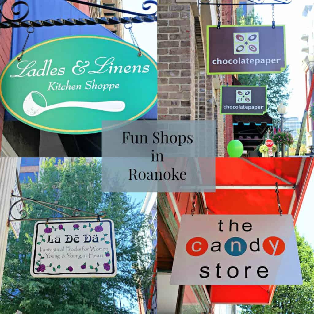 Funs Shops in Roanoke sign