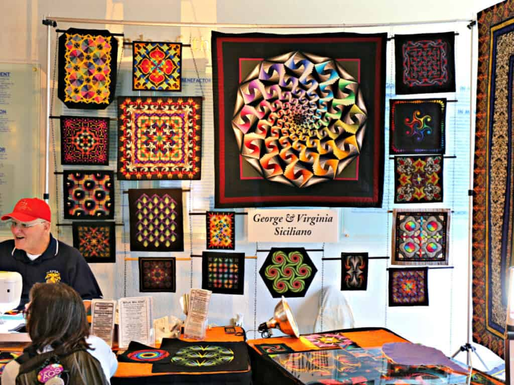 George Siciliano and quilts