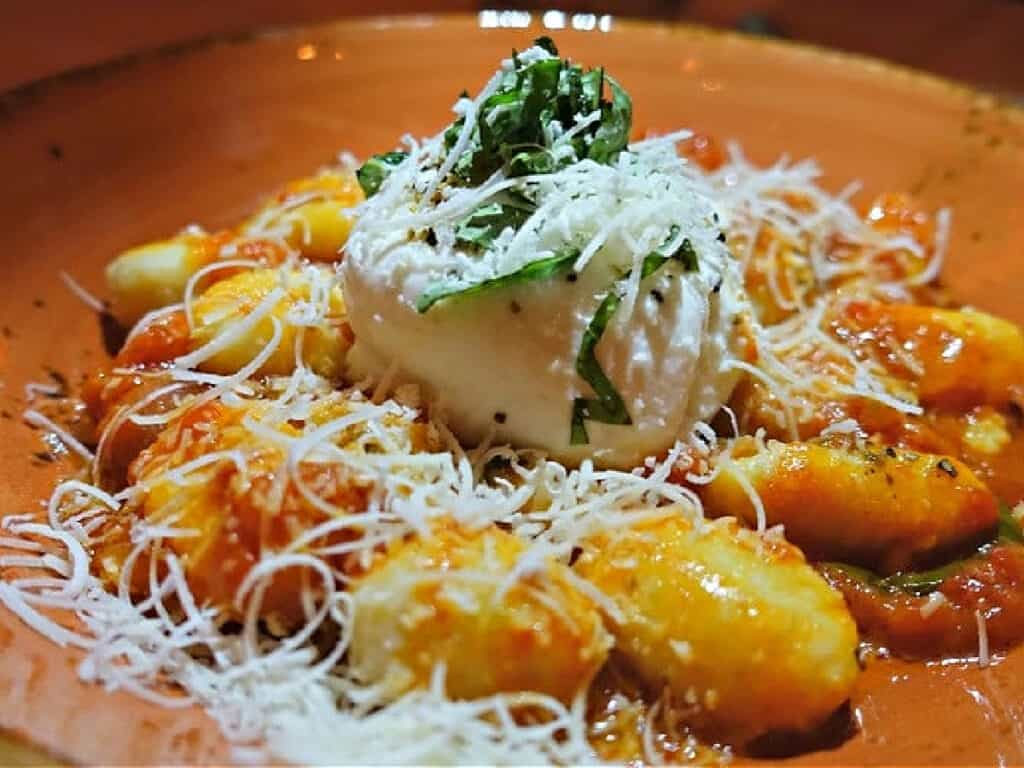 plate of gnocchi