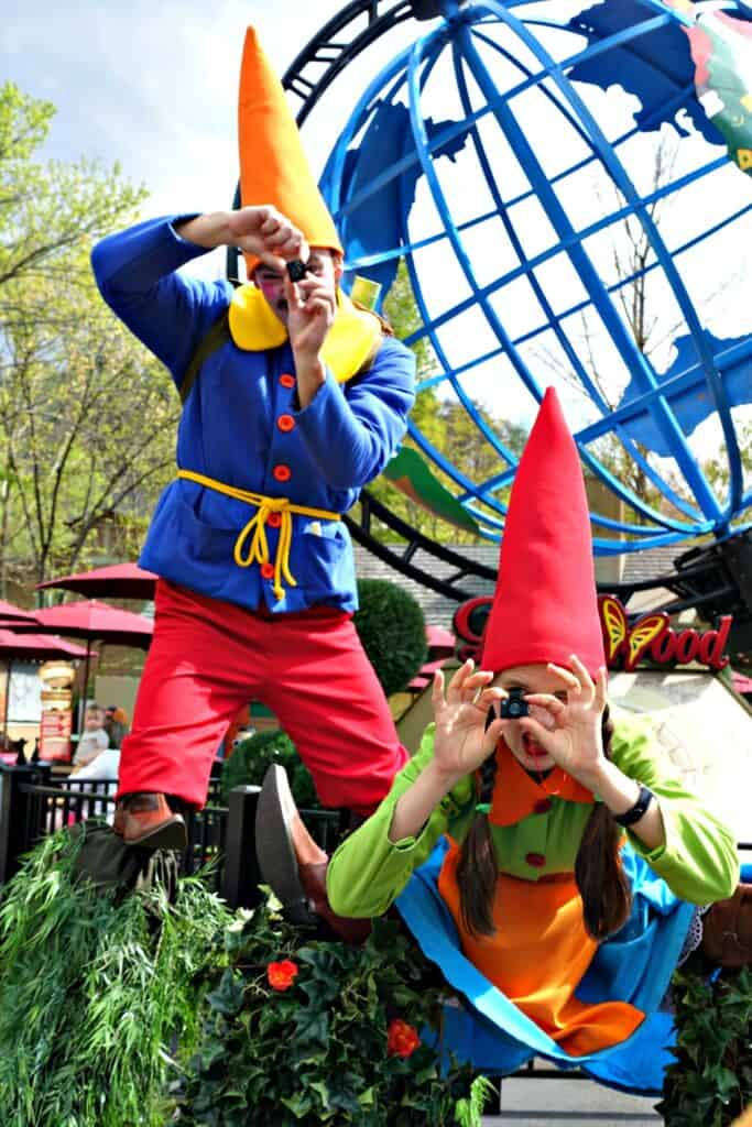 gnomes taking pictures