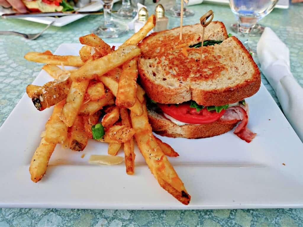 ham and havarti sandwich and fries