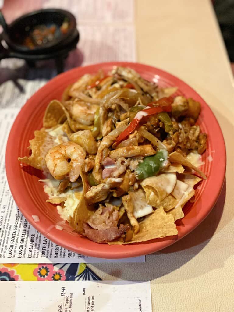 plate of Hawaiian nachos