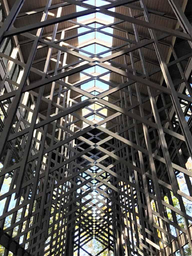 inside glass church