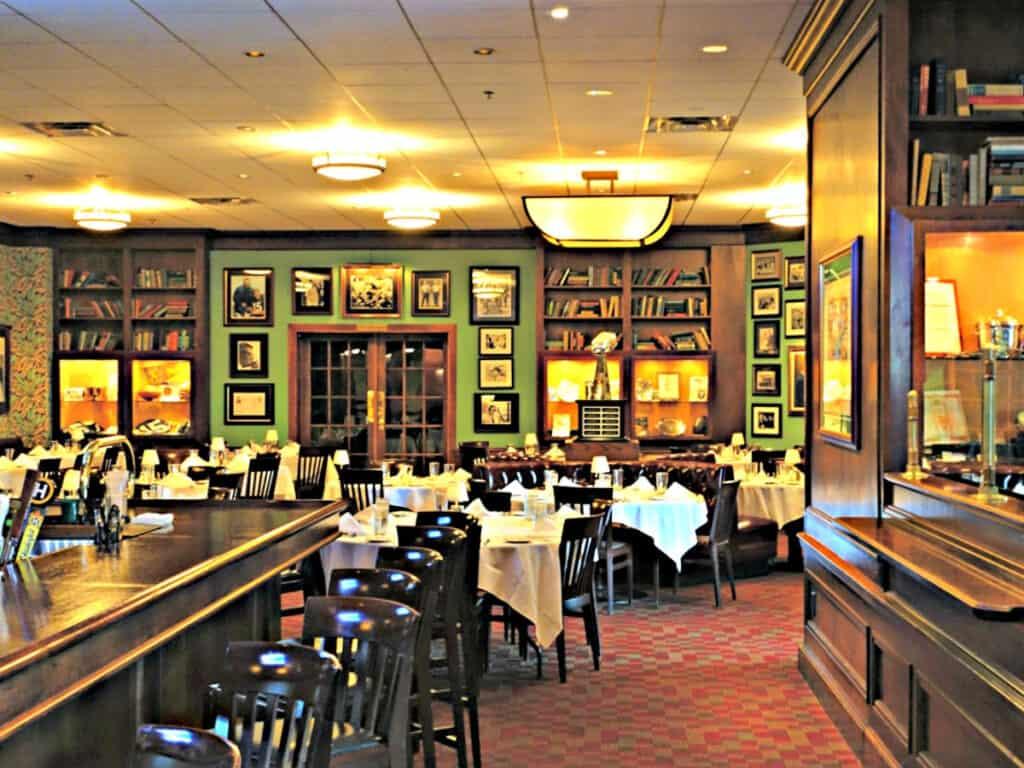 inside Lombardi's restaurant