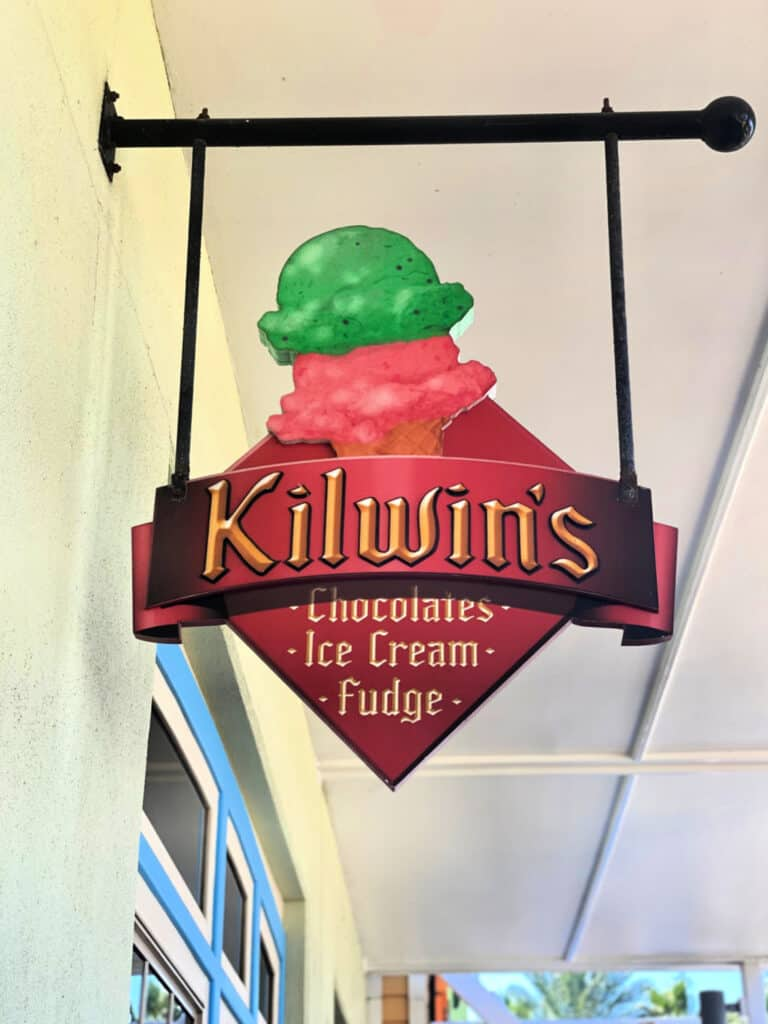 Kilwin's Ice Cream sign