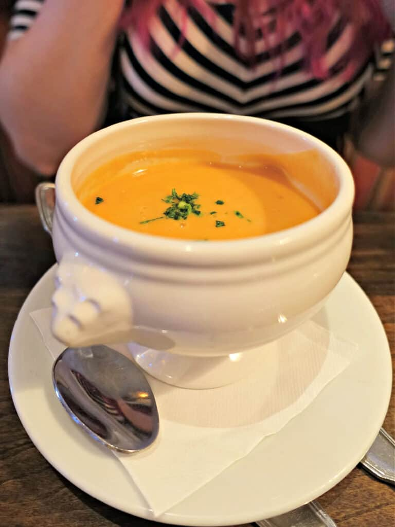 bowl of lobster bisque
