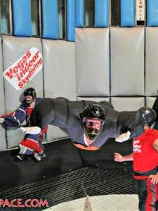 Lynda skydiving indoors