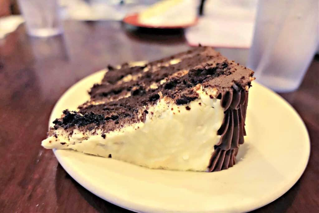 slice of Mounds cake