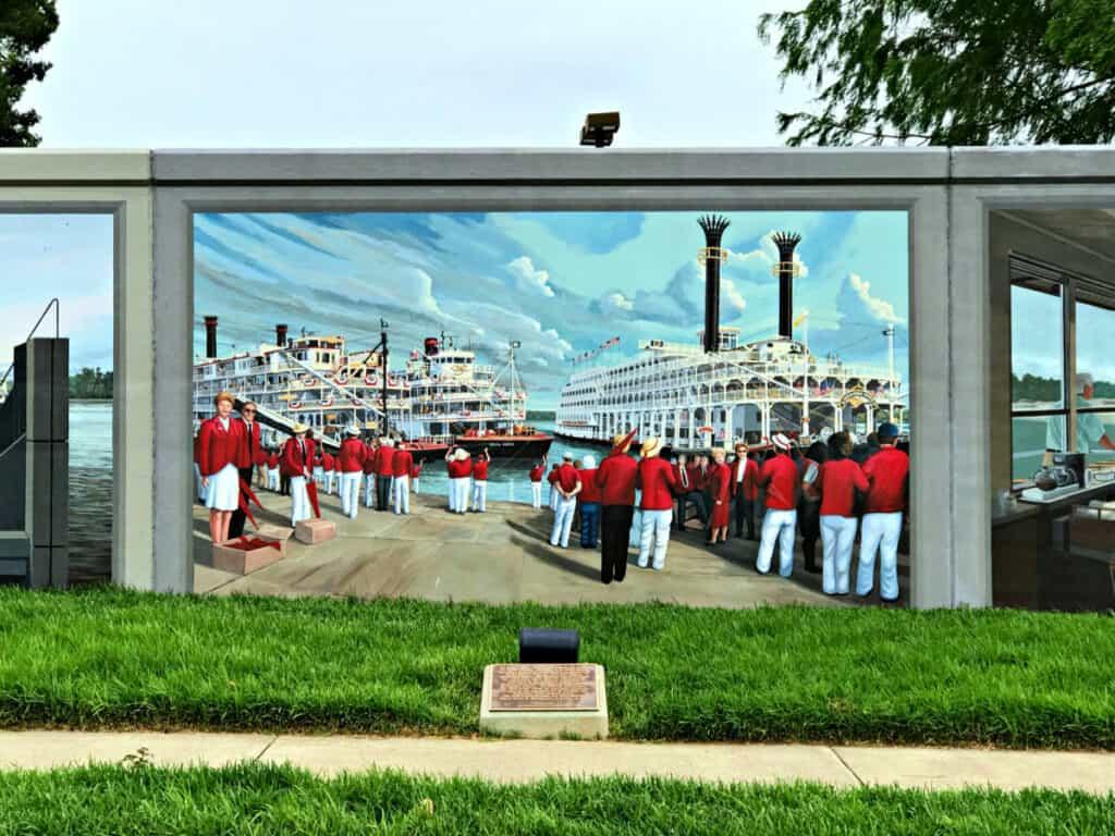 river wall mural