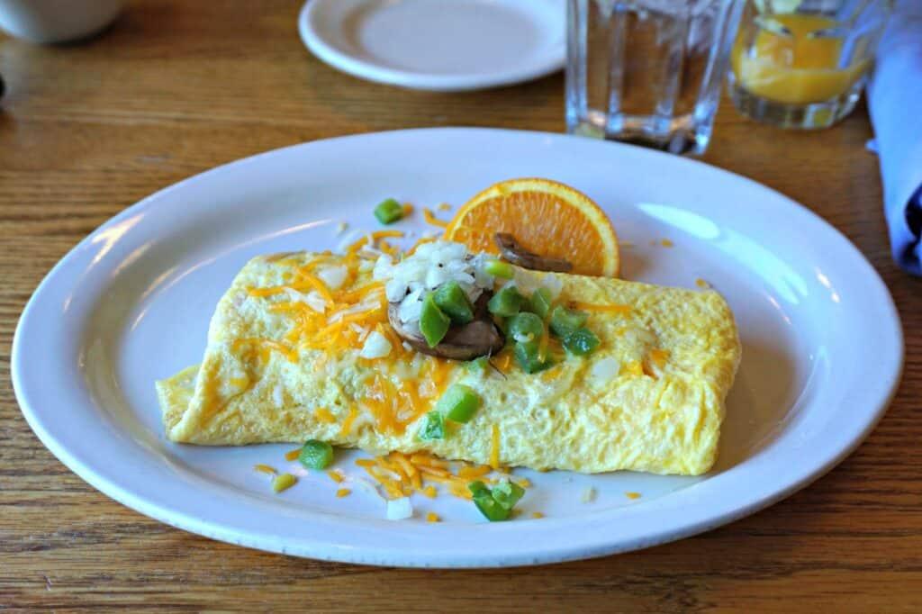 omlette on a plate