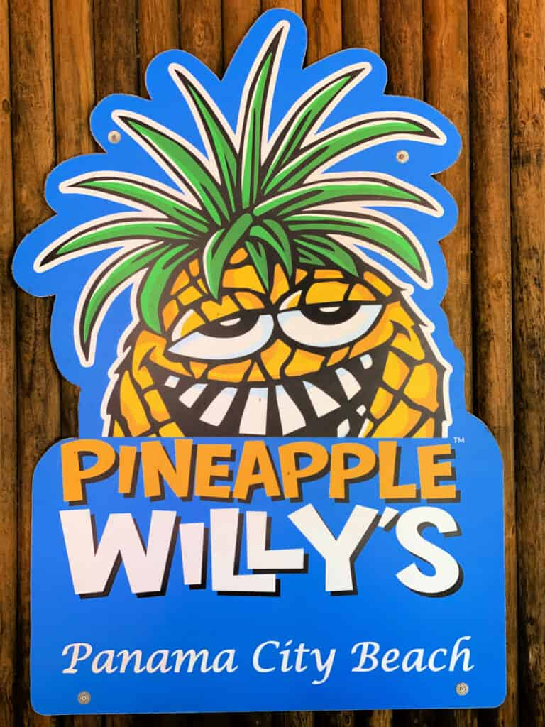 Pineapple Willy's Panama City Beach sign