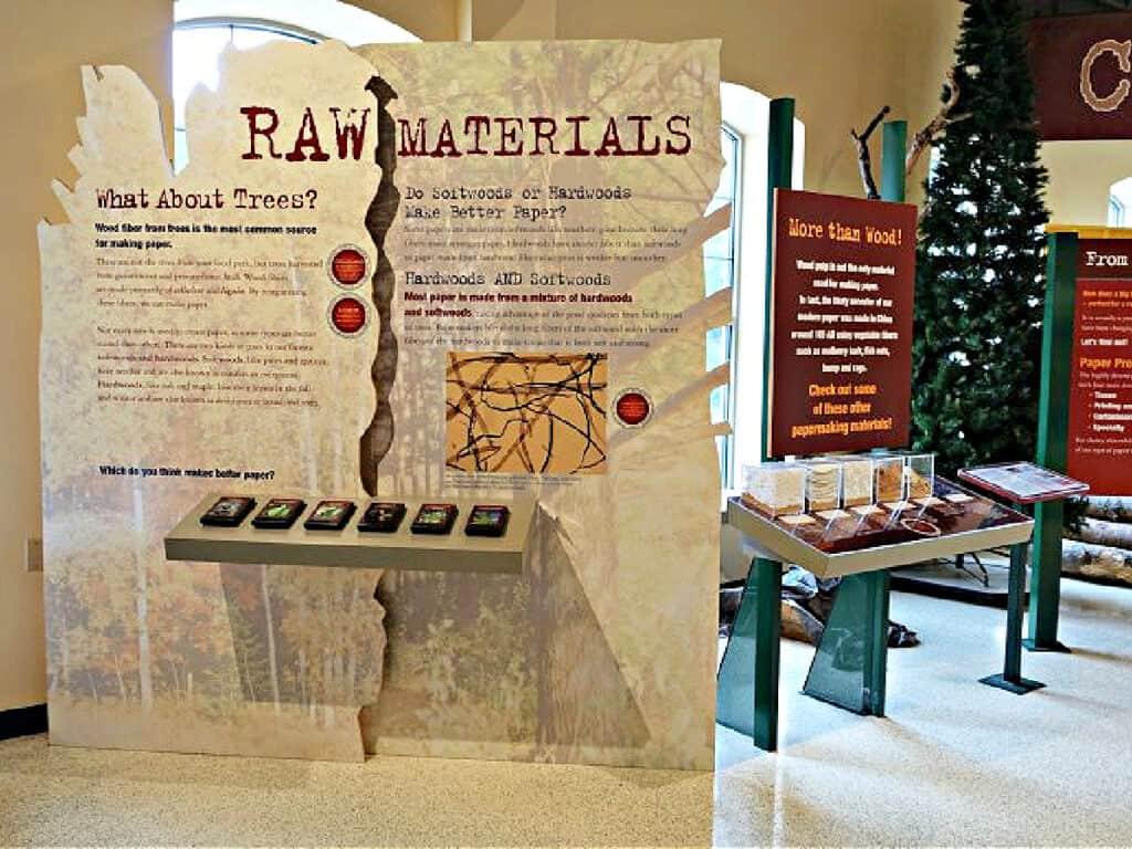 raw materials display