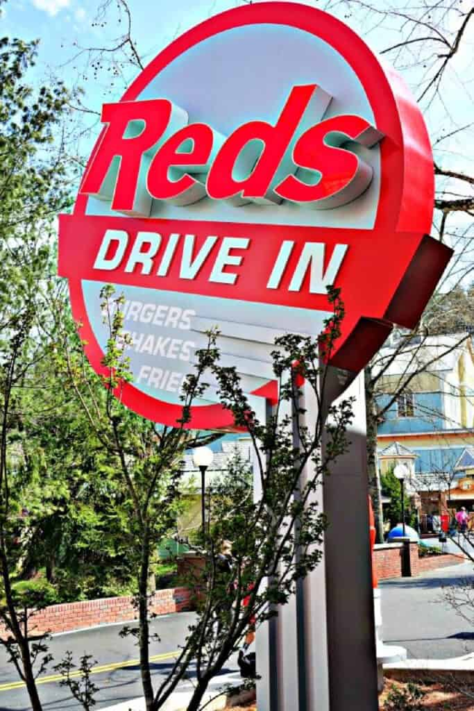 Reds Drive In sign