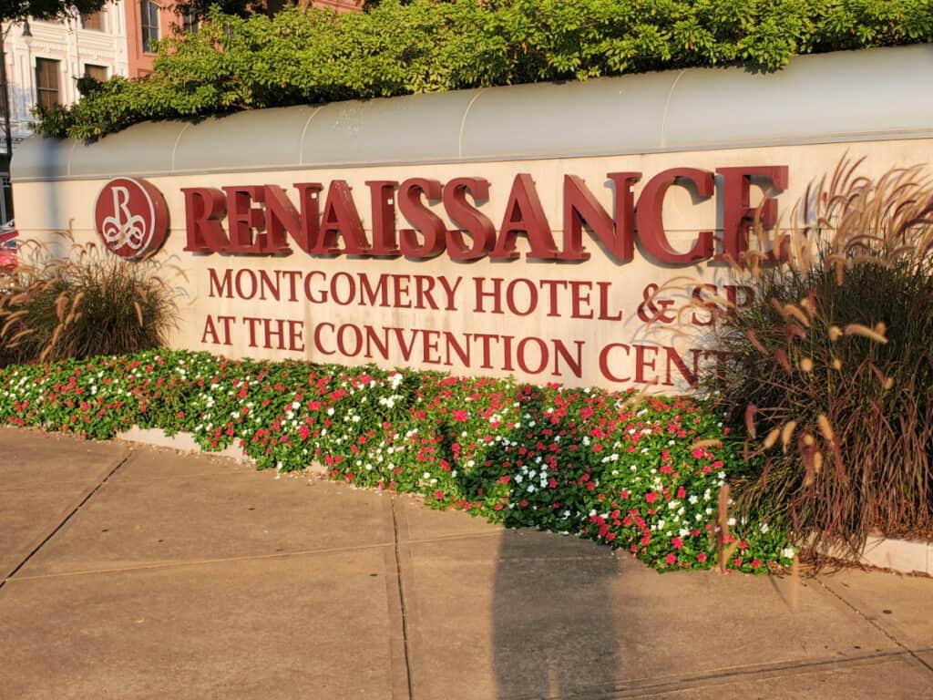 Renaissance Hotel sign
