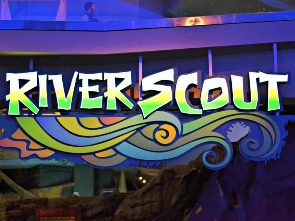 River Scout sign