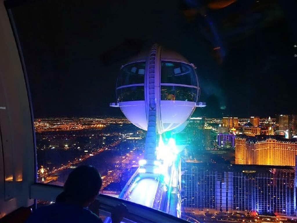 High Roller pod above Las Vegas