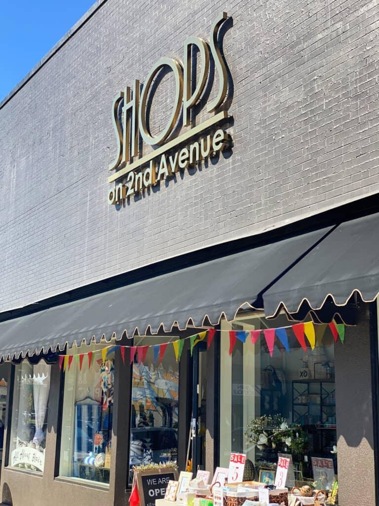 Shops on 2nd Avenue entrance