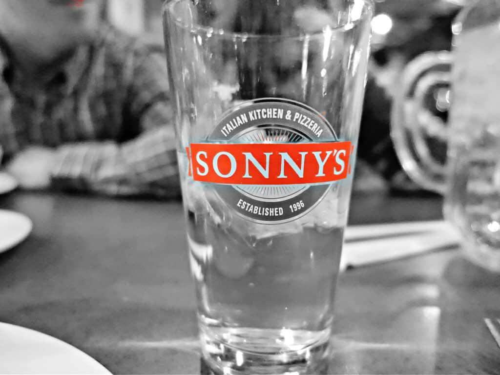 Sonny's drinking glass