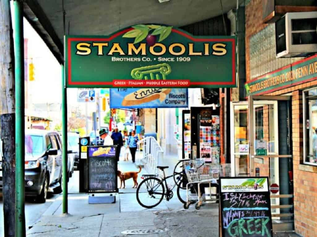 Stamoolis sign in Strip District