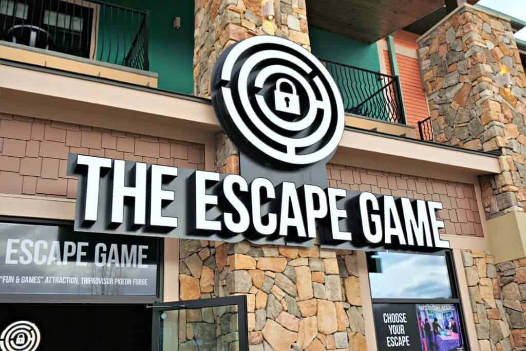 entrance to The Escape Game