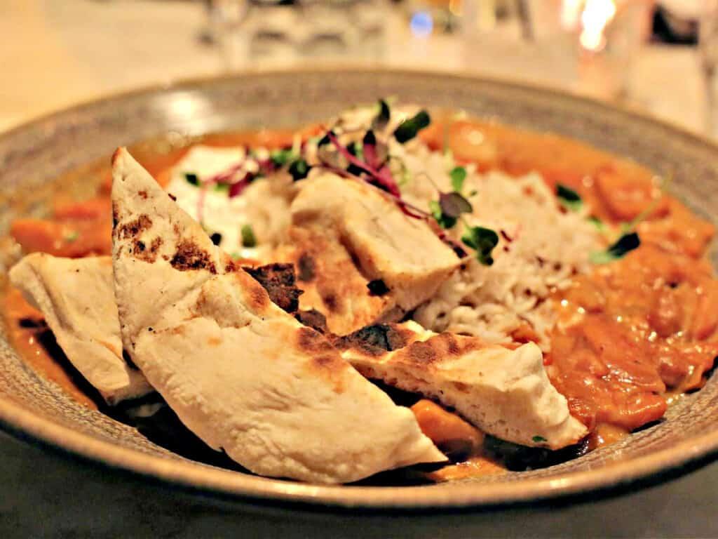 tikka masala on a plate