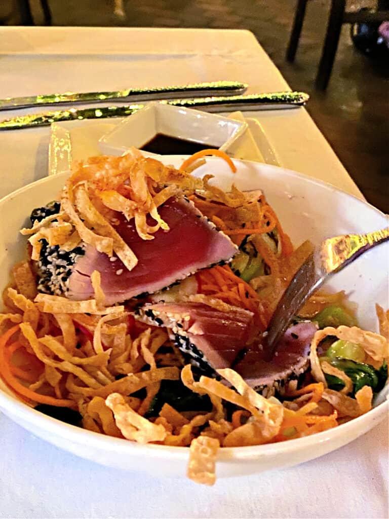 tuna dinner in a bowl